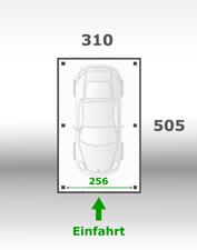Jetzt kalkulieren:Carport 310x505cm
