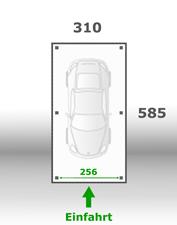 Jetzt kalkulieren:Carport 310x585cm