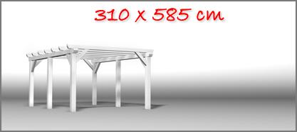 Carport 310x585 cm