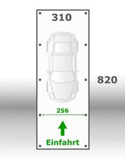 Jetzt kalkulieren:Carport 310x820cm