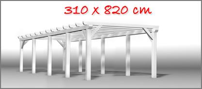Carport 310x820 cm