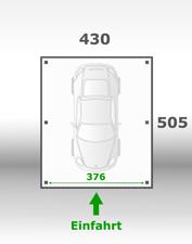 Jetzt kalkulieren:Carport 430x505cm