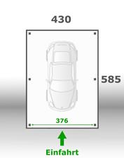 Jetzt kalkulieren:Carport 430x585cm