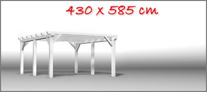 Carport 430x585 cm