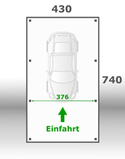 Jetzt kalkulieren:Carport 430x740cm