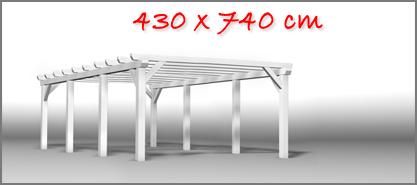 Carport 430x740 cm