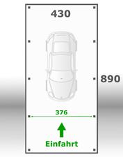 Jetzt kalkulieren:Carport 430x890cm