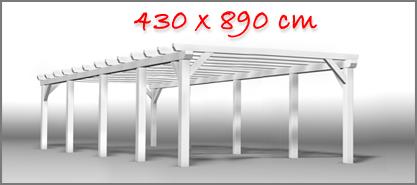 Carport 430x890 cm