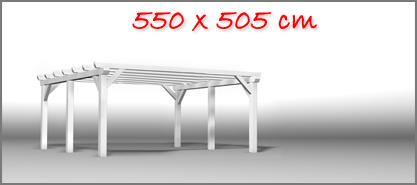 Carport 550x505 cm