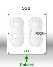 Jetzt kalkulieren:Carport 550x585cm