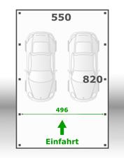 Jetzt kalkulieren:Carport 550x820cm
