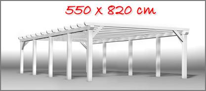 Carport 550x820 cm