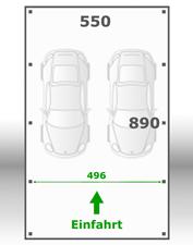 Jetzt kalkulieren:Carport 550x890cm