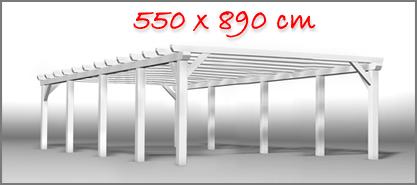 Carport 550x890 cm