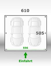 Jetzt kalkulieren:Carport 610x505cm