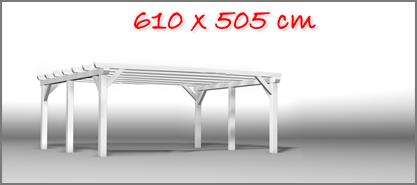 Carport 610x505 cm