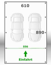 Jetzt kalkulieren:Carport 610x890cm